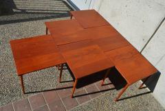 Peter Hvidt Orla M lgaard Nielsen RARE set of 6 SOLID TEAK SIDE STACKING COFFEE TABLES by Hvidt - 2074125