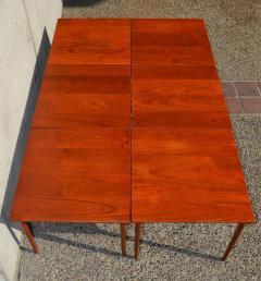 Peter Hvidt Orla M lgaard Nielsen RARE set of 6 SOLID TEAK SIDE STACKING COFFEE TABLES by Hvidt - 2074136