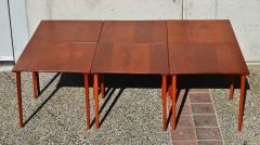 Peter Hvidt Orla M lgaard Nielsen RARE set of 6 SOLID TEAK SIDE STACKING COFFEE TABLES by Hvidt - 2074137