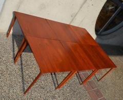 Peter Hvidt Orla M lgaard Nielsen RARE set of 6 SOLID TEAK SIDE STACKING COFFEE TABLES by Hvidt - 2074138