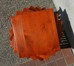 Peter Hvidt Orla M lgaard Nielsen RARE set of 6 SOLID TEAK SIDE STACKING COFFEE TABLES by Hvidt - 2074139