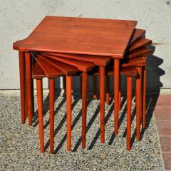 Peter Hvidt Orla M lgaard Nielsen RARE set of 6 SOLID TEAK SIDE STACKING COFFEE TABLES by Hvidt - 2074158