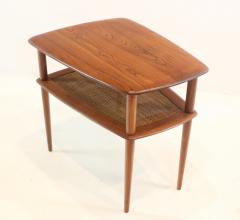 Peter Hvidt Pair of Scandinavian Modern Solid Teak Minerva Side Tables by Peter Hvidt - 1439061