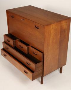 Peter Hvidt Scandinavian Modern Solid Teak Chest Desk Designed by Peter Hvidt - 2012423