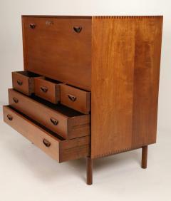 Peter Hvidt Scandinavian Modern Solid Teak Chest Desk Designed by Peter Hvidt - 2012424