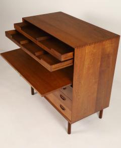 Peter Hvidt Scandinavian Modern Solid Teak Chest Desk Designed by Peter Hvidt - 2012425