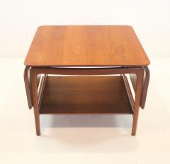 Peter Hvidt Solid Teak Scandinavian Modern Drop Leaf Side Table by Peter Hvidt - 1480701