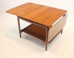 Peter Hvidt Solid Teak Scandinavian Modern Drop Leaf Side Table by Peter Hvidt - 1480702