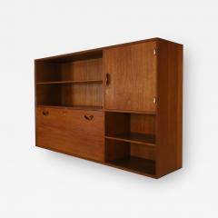 Peter Hvidt Solid Teak Scandinavian Modern Wall Mounted Cabinet by Peter Hvidt - 2133359