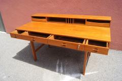 Peter L vig Nielsen Mid Century Teak Flip Top Desk by Peter L vig Nielsen - 1505404