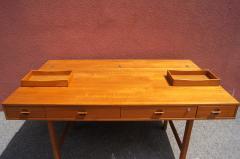 Peter L vig Nielsen Mid Century Teak Flip Top Desk by Peter L vig Nielsen - 1505405