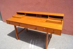 Peter L vig Nielsen Mid Century Teak Flip Top Desk by Peter L vig Nielsen - 1505406