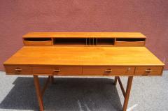 Peter L vig Nielsen Mid Century Teak Flip Top Desk by Peter L vig Nielsen - 1505407