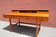 Peter L vig Nielsen Mid Century Teak Flip Top Desk by Peter L vig Nielsen - 1505408