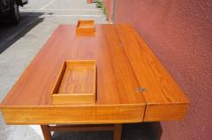 Peter L vig Nielsen Mid Century Teak Flip Top Desk by Peter L vig Nielsen - 1505409