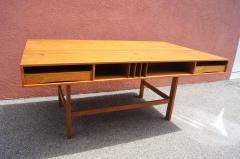 Peter L vig Nielsen Mid Century Teak Flip Top Desk by Peter L vig Nielsen - 1505410