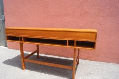 Peter L vig Nielsen Mid Century Teak Flip Top Desk by Peter L vig Nielsen - 1505419