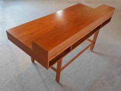 Peter Lovig Nielsen Danish Modern Teakwood Flip Top Table Desk by L vig of Denmark - 423086