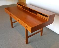 Peter Lovig Nielsen Danish Modern Teakwood Flip Top Table Desk by L vig of Denmark - 423087