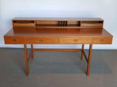 Peter Lovig Nielsen Danish Modern Teakwood Flip Top Table Desk by L vig of Denmark - 423088