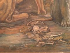 Peter Maier MID CENTURY MEDIEVAL SACRIFICE TO LION DEN PAINTING - 1074597