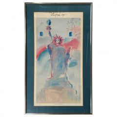 Peter Max Statue of Liberty Poster by Peter Max from 1981 - 1156366