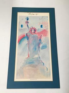 Peter Max Statue of Liberty Poster by Peter Max from 1981 - 1156367