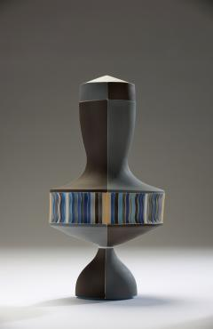 Peter Pincus Brown and Blue Urn with White Seams 2016 - 584587