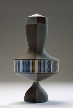 Peter Pincus Brown and Blue Urn with White Seams 2016 - 584588