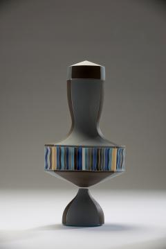 Peter Pincus Brown and Blue Urn with White Seams 2016 - 584589