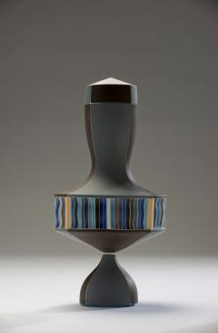 Peter Pincus Brown and Blue Urn with White Seams 2016 - 584590