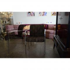 Peter Protzman Mid Century Modern Velvet Chrome Armchairs for Herman Miller - 321886