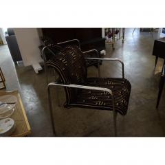 Peter Protzman Mid Century Modern Velvet Chrome Armchairs for Herman Miller - 321887