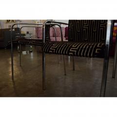 Peter Protzman Mid Century Modern Velvet Chrome Armchairs for Herman Miller - 321888