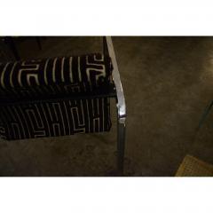 Peter Protzman Mid Century Modern Velvet Chrome Armchairs for Herman Miller - 321889