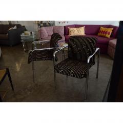 Peter Protzman Mid Century Modern Velvet Chrome Armchairs for Herman Miller - 321890