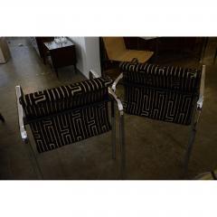 Peter Protzman Mid Century Modern Velvet Chrome Armchairs for Herman Miller - 321891