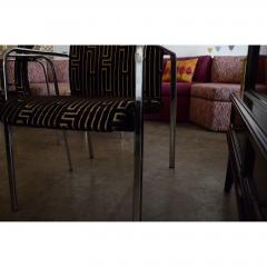 Peter Protzman Mid Century Modern Velvet Chrome Armchairs for Herman Miller - 321892