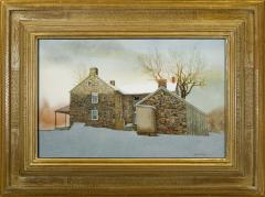 Peter Sculthorpe Stone Farm House in Snow - 71277