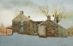 Peter Sculthorpe Stone Farm House in Snow - 74509