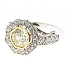 Peter Suchy Peter Suchy 1 12 Carat Light Natural Yellow Diamond Platinum Engagement Ring - 408289