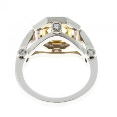 Peter Suchy Peter Suchy 1 12 Carat Light Natural Yellow Diamond Platinum Engagement Ring - 408291