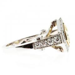 Peter Suchy Peter Suchy 1 12 Carat Light Natural Yellow Diamond Platinum Engagement Ring - 408292