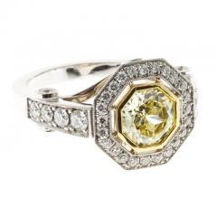 Peter Suchy Peter Suchy 1 12 Carat Light Natural Yellow Diamond Platinum Engagement Ring - 408293