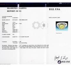 Peter Suchy Peter Suchy 1 12 Carat Light Natural Yellow Diamond Platinum Engagement Ring - 408296