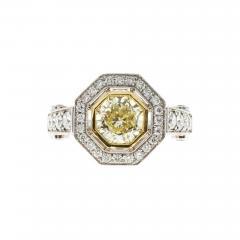 Peter Suchy Peter Suchy 1 12 Carat Light Natural Yellow Diamond Platinum Engagement Ring - 725575