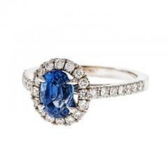 Peter Suchy Peter Suchy 1 77 Carat Oval Sapphire Diamond Halo Gold Engagement Ring - 396217