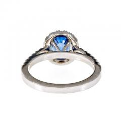 Peter Suchy Peter Suchy 1 77 Carat Oval Sapphire Diamond Halo Gold Engagement Ring - 396218