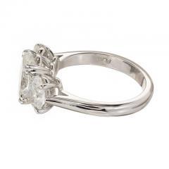 Peter Suchy Peter Suchy 2 01 Carat Oval Diamond Platinum Three Stone Engagement Ring - 528140