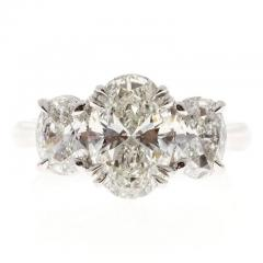 Peter Suchy Peter Suchy 2 01 Carat Oval Diamond Platinum Three Stone Engagement Ring - 528141